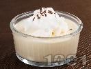 Рецепта Баварски крем от желиран ванилов пудинг със сметана